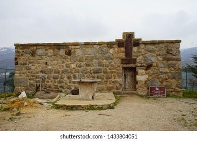 BSHARRI, LEBANON - CIRCA APRIL 2019 St, Gorge church