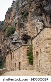BSHARRI, LEBANON - CIRCA APRIL 2019 Deir Mar Elisha monastery