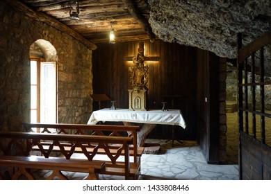 BSHARRI, LEBANON - CIRCA APRIL 2019 Inside Deir Mar Elisha monastery