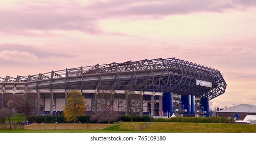 BT Murrayfield Rugby Stadium. in Edinburgh. Scotland UK. November 2017