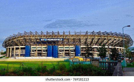 BT Murrayfield Rugby Stadium, famous rugby international venue and concert stadium in Corstorphine, Edinburgh, Scotland UK. December 2017