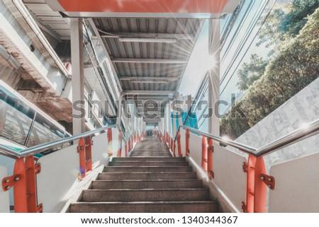 BTS Skytrain Station skytrain
