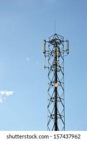 bts tower against blue sky