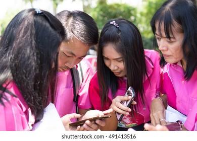 BUA KAEO KESORN SCHOOL,AMPHOE LAT LUM KAEO,PATHUMTANI THAILAND SEPTEMBER,2016 : Unidentified people join  Sattabongkoch Game on September 29,2016 in Bua Kaeo Kesorn school,Patumtani,Thailand.