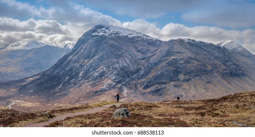 Buachaille Etive Mor, looking into Coire na Tulaich, viewed from the West Highland Way,  Glencoe, Scottish Highlands.