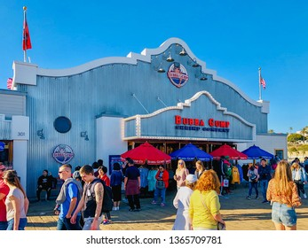 Bubba Gump Shrimp Company on Santa Monica pier. The restaurant is famous for being featured in the Oscar winning movie Forrest Gump, California, USA. 02/22/2019