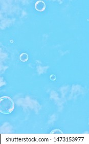bubble bubbles abstract close-up background modern simple design with copyspace stock photo