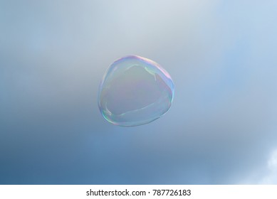 Bubble in the cloudy sky