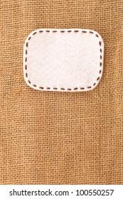 bubble fabric on burlap
