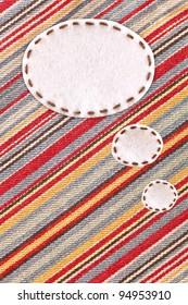 bubble fabric on color jean
