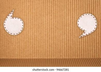 bubble fabric on corrugated paper