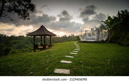 Bubble Hotel at Sunset - Ubud, Bali