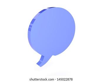 Bubble icon over white background. Concept 3D illustration.