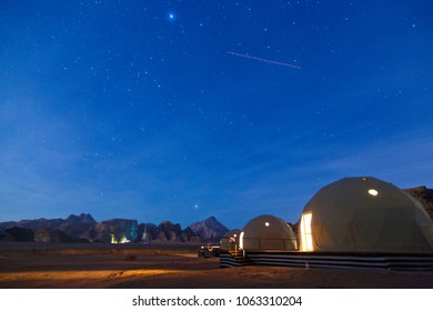 Bubble tents in Wadi Rum Desert, Jordan