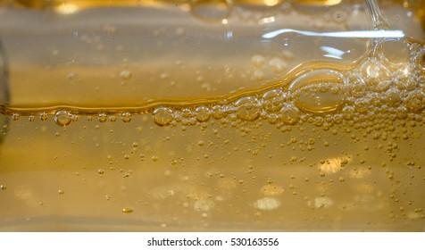 Bubbles in bottle White background