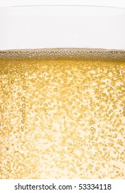 Bubbles of champagne closeup