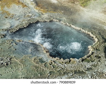 Bubbling thermal pool - Yellowstone National Park