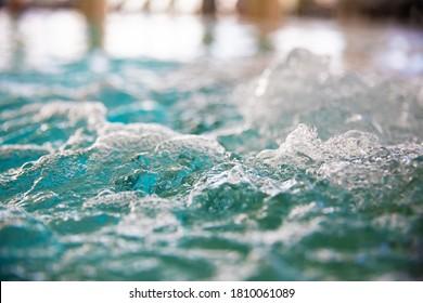 BUBBLING WATER IN WELLNESS SPA WHIRLPOOL