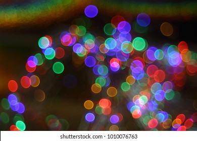 Buble bokeh effect natural  holographic foil. Abstract buble bokeh effect. Out of focus texture. Colorful of bokeh on defocused background. Natural effect holographic foil.