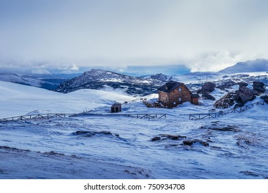 Bucegi Mountains, Romania - 19 December, 2015: Winter landscape