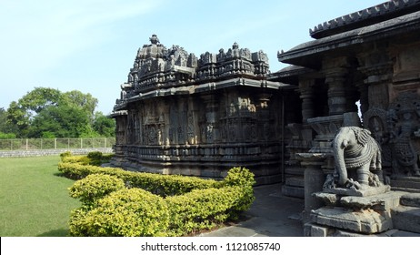 Bucesvara Temple, Koravangala, Hassan District of Karnataka state, India. The temple was built in 1173 A.D.