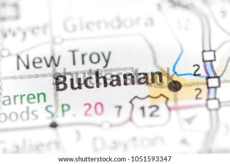 Buchanan Michigan Map.Buchanan Michigan Usa Stock Photo Edit Now 1051593347 Shutterstock