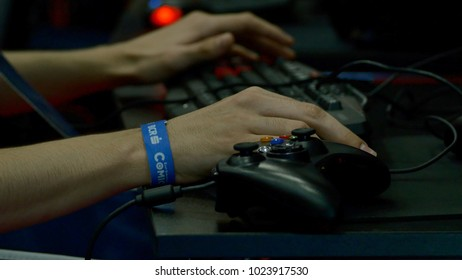 Bucharest, May 29th, Local Gaming Convention, Teenagers Engaged In Gaming Tournament At Convention, ComicCon
