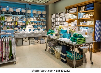 BUCHAREST, ROMANIA - APRIL 20, 2014: Home Decorations In Decorations Store On April 20, 2014 In Bucharest, Romania.