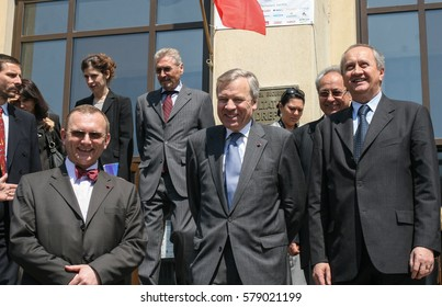Bucharest, Romania, April 24, 2009: NATO Secretary General Jaap de Hoop Scheffer during the visit at the Faculty of Law in Bucharest, where he was granted with Doctor Honoris Causa title.