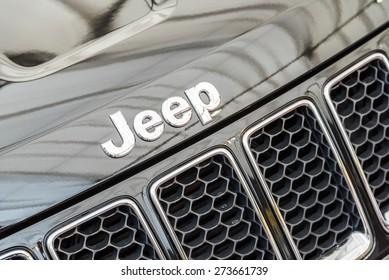 BUCHAREST, ROMANIA - APRIL 26, 2015: Jeep is a brand of American automobiles that produce solely of sport utility vehicles and off-road vehicles, but has also included pickup trucks in the past.