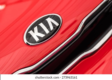 BUCHAREST, ROMANIA - APRIL 28, 2015: Kia Motors was founded in 1957 and is South Korea second-largest automobile manufacturer.