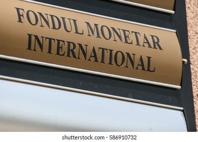Bucharest, Romania, August 11, 2009: FMI ( IMF - International Monetary Fund) logo.
