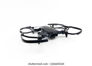 Bucharest, Romania - December 2, 2018: Drone DJI Mavic Air (Onyx Black)