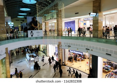 BUCHAREST, ROMANIA - December 26 2017: Peek Cloppenburg store in AFI Cotroceni Shopping Mall. International chain of fashion department stores headquartered in Germany. Bucharest, December 26 2017