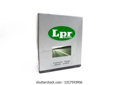 Bucharest, Romania: February 19, 2019 - Box of LPR Brakes