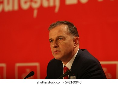 BUCHAREST, ROMANIA - February 20, 2010: Mircea Geoana, speaks at the National Congress of Social Democrat Party (PSD).