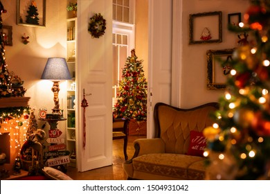 Bucharest, Romania - January 8th 2019   Beautiful still life or illustrations of Christmas spirit and decorations with a lot of detailes in a warm and gentle light with a rich bokeh in backgrounds.