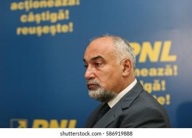 Bucharest, Romania, July 14, 2009: Varujan Vosganian in a press conference in Bucharest.