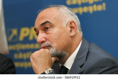 Bucharest, Romania, July 14, 2009: Varujan Vosganian in a press conference in Bucharest.