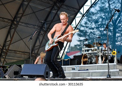 BUCHAREST, ROMANIA - JULY 8 : Def Leppard performs at Romexpo July 8, 2008 in Bucharest.
