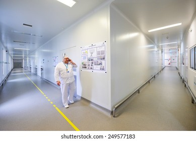 BUCHAREST, ROMANIA - June 02:Interior of Zentiva drugs factory. Open day celebrating 50 years of existence, in Bucharest, Romania on 02 June, 2012