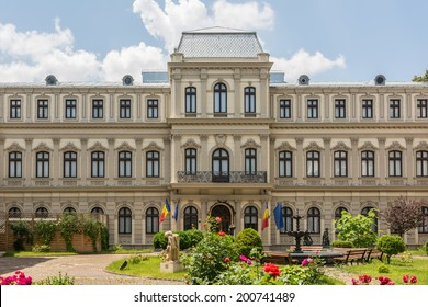 BUCHAREST, ROMANIA - JUNE 09, 2014: The Museum of Art Collections. Hosted in Romanit Palace contains 44 collections donated to the Romanian State beginning with 1927.