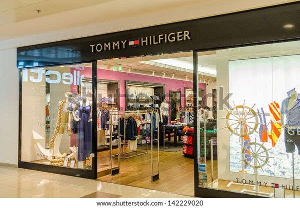 72061db1 BUCHAREST, ROMANIA - JUNE 13: Tommy Hilfiger Store on June 13, 2013 in
