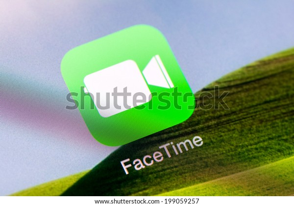 BUCHAREST, ROMANIA - JUNE 16, 2014: Facetime Application On Apple iPad Air. FaceTime is a videotelephony and voice over IP (VoIP) software application developed by Apple for iOS and Macintosh.