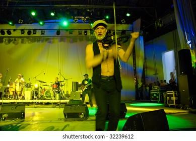 BUCHAREST, ROMANIA - June 17 : Gogol Bordello performs at herastrau Summer Theater June 17, 2009 in Bucharest.