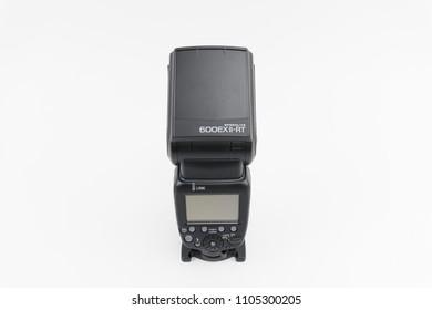 Bucharest, Romania - June 3, 2018:Canon Speedlite 600EX II-RT