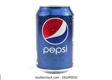 BUCHAREST, ROMANIA - March 15 , 2014:330ml Pepsi Bottle Can Isolated On White Background. Pepsi is a carbonated soft drink