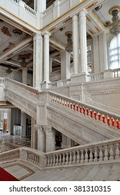 BUCHAREST, ROMANIA - MARCH 22: Interior shot with the Palace of Parliament on March 22, 2015 in Bucharest. The People's Palace was built by communist dictator Nicolae Ceausescu during the 1980's.