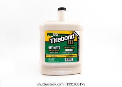 Bucharest, Romania: March 6, 2019 - Titebond III Ultimate Wood Glue