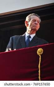 Bucharest, Romania - May 10, 2012: King Michael of Romania during one of his last public appearance in Bucharest.